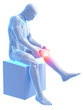 3d rendered medical illustration - painful knee