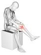 3d rendered medical illustration - painful knee