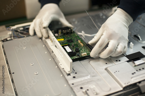 manual work in electronic industry