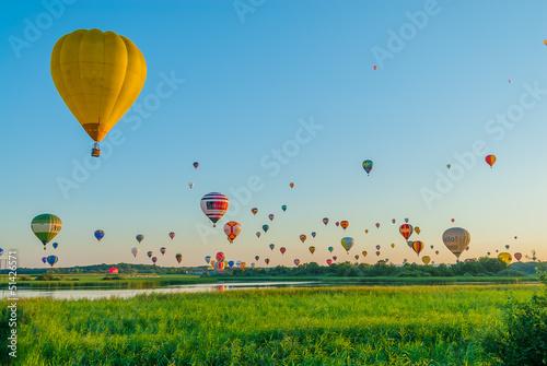 Leinwandbild Motiv Mondial hot Air Ballon reunion in Lorraine France