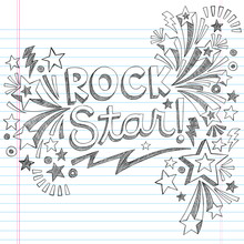 Vedette du rock Musique Retour à l'école Sketchy Doodles portable