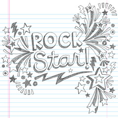 Rock Star Music Back to School Sketchy Notebook Doodles