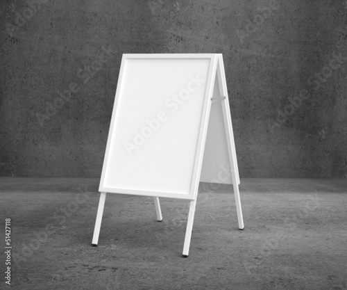 white sandwich board