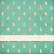 Vintage background. Polka dot design with raindrops. Eps10