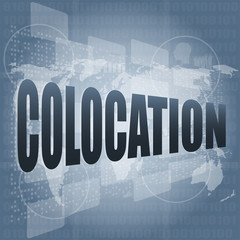 colocation - media communication on the internet