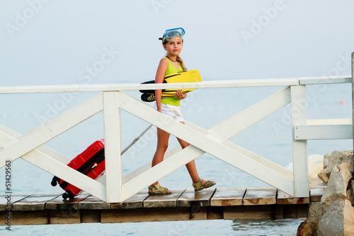 Traveler, summer - lovely girl ready for summer vacation