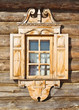 Carved jamb. Traditional Russian wooden architecture