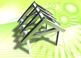 3D Grafik - Dachstuhl