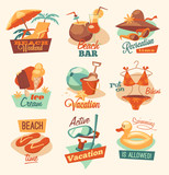 Retro beach emblems