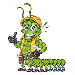 Centipede Mascot Thumb Up