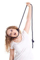 Ausweglos - Junge Frau mit Problemen - Eßstörungen