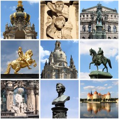 Dresden landmarks collage. Germany