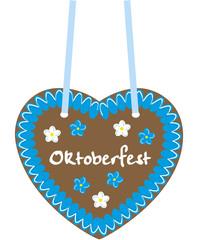 lebkuchenherz oktoberfest blau weiss