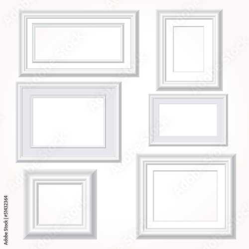 white wall frames
