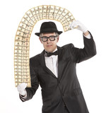 Magician businessman