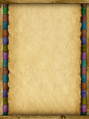 Template - paper sheet and planks
