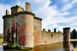 Caerlaverock Castle and moat.