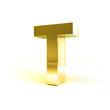 Metal Alphabet Character T