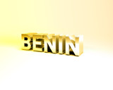 3D Country Text of BENIN