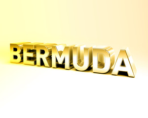 3D Country Text of BERMUDA