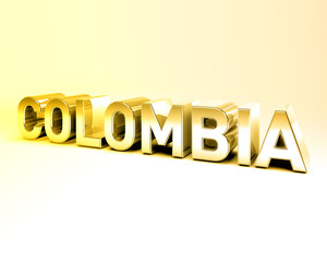 3D Country Text of COLOMBIA
