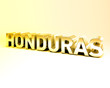 3D Country Text of HONDURAS