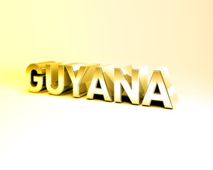 3D Country Text of GUYANA