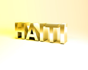 3D Country Text of HAITI