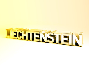 3D Country Text of LIECHTENSTEIN