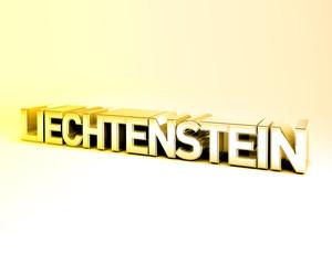 3D Country Text of LIECHTENSTEIN