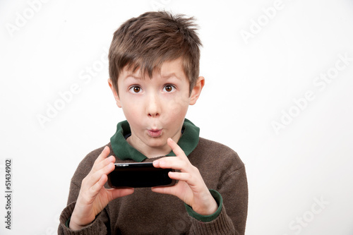 Boy With Cellphone 3