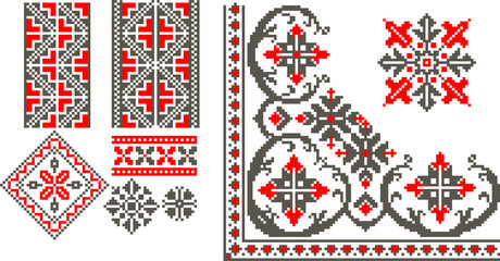 Vector illustration with romanian traditional pattern