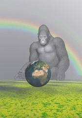 gorilla and earth africa and sky