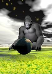 gorilla and earth