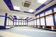 Empty locker room in Stadium