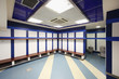 Empty locker room in Stadium