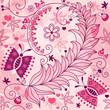 Seamless spring grunge floral pattern