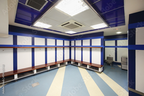 Empty locker room in Stadium Poster