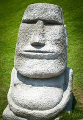 Ancient stone statues called moai