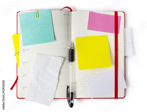 notebook with precise clipping path