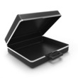 3d Empty briefcase side view