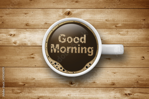 Cup of Coffee with Good Morning