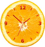 Orange Slice Clock Concept