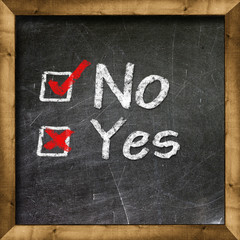 Yes no choice