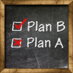 Plan A Plan B choice