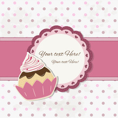 cake design - cupcake background - place your text