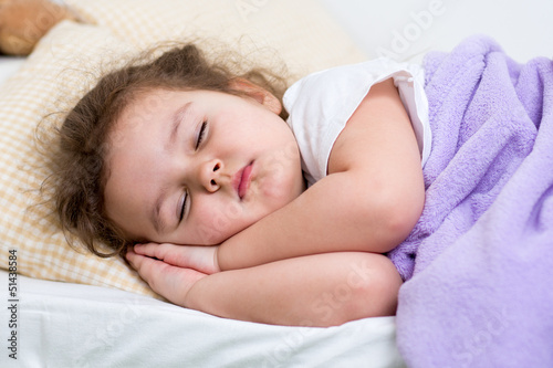 child girl sleeping
