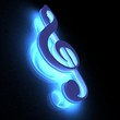3D music key lighting in the dark