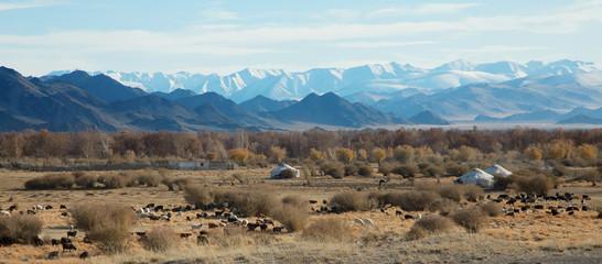 traditional dwelling of Mongolian nomadic