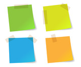 Colorful stick note papers